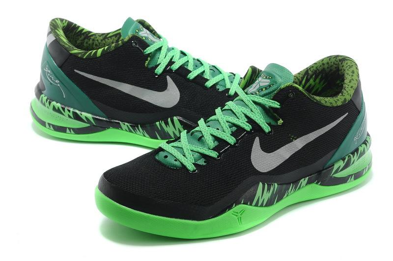 Latest Nike Kobe Bryant 8 Black Green Shoes