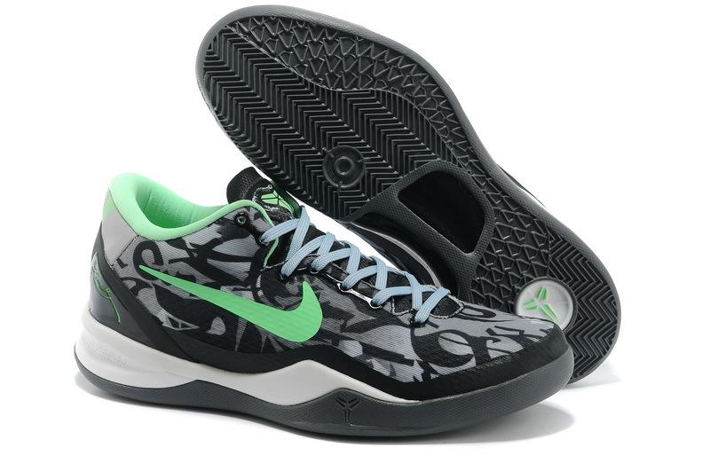 Latest Nike Kobe Bryant 8 Black White Green Shoes