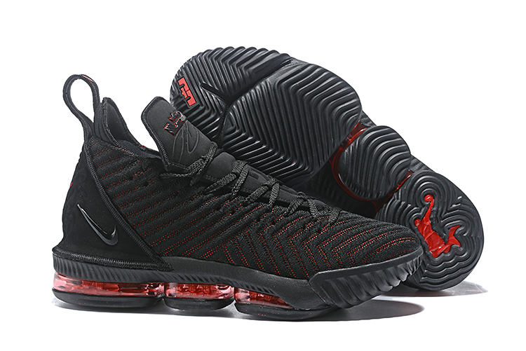 New Lebrom James 16 Black Red Shoes