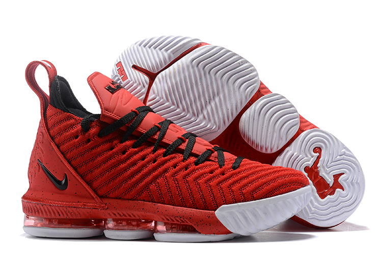 New Lebrom James 16 Red Black Shoes