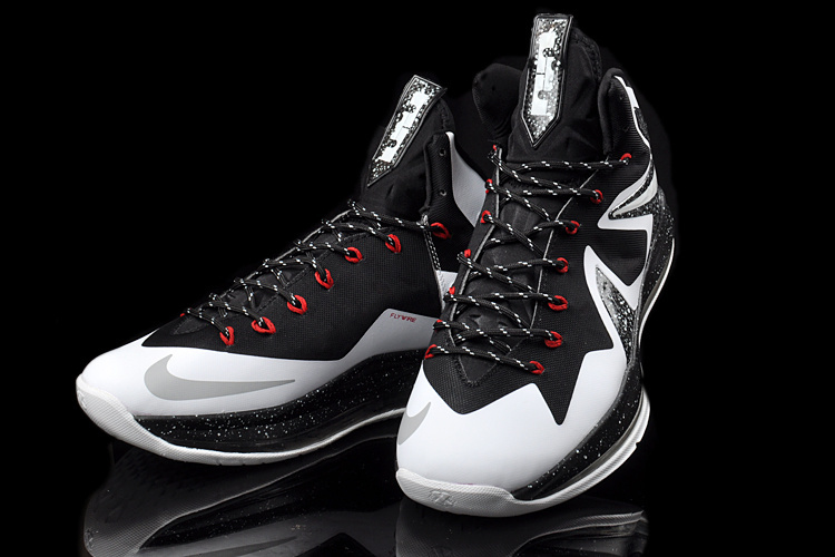 Original 2014 Nike Lebron James 10 Elite Black White Shoes ...