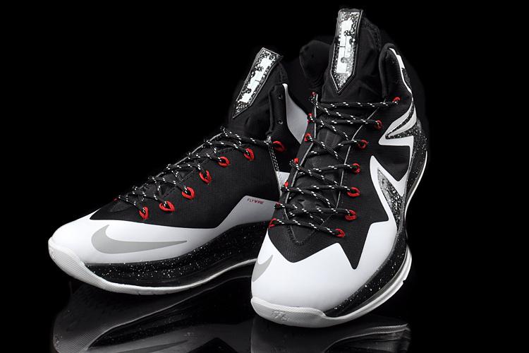 Original 2014 Nike Lebron James 10 Elite Black White Shoes ...