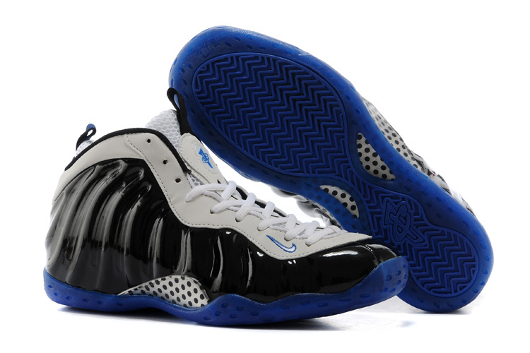New Nike Air Foamposite One White Black Blue Shoes