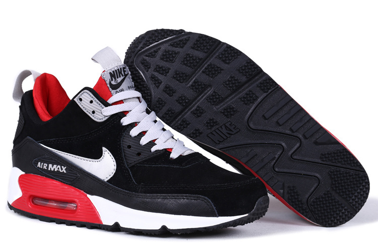 Nike Air Max 90 High Black White Red