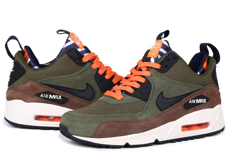 Nike Air Max 90 High Green Black Orange