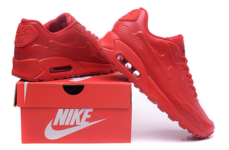 2016 Nike Air Max 90 Leather All Red