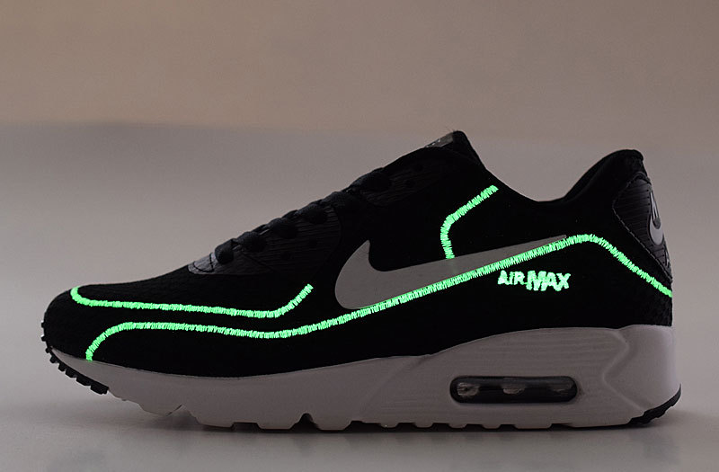 2016 Nike Air Max 90 Midnight Firefly Black White