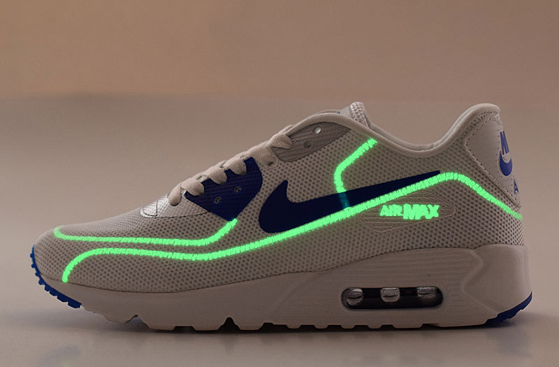 2016 Nike Air Max 90 Midnight Firefly White Blue