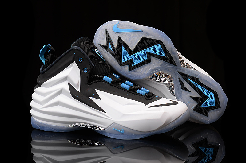 New Nike Chuck Posite Barkley White Black Blue Shoes