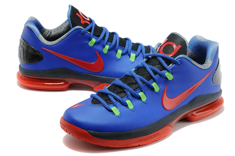 2014 Kevin Durant 5 Shoes Low Blue Red