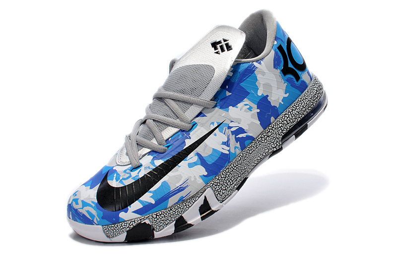 2014 Nike Kevin Durant 6 MVP Air Force Blue White Black Shoes