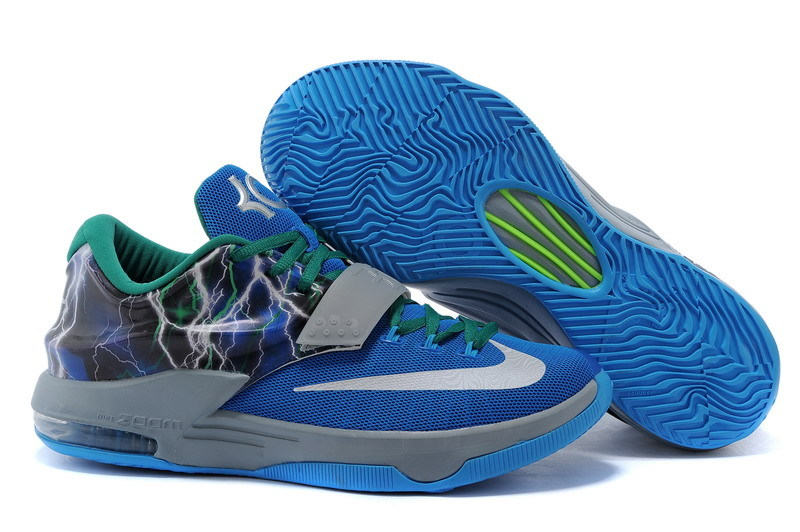 New Nike Kevin Durant 7 Blue Green Grey Shoes [NKA101 ...