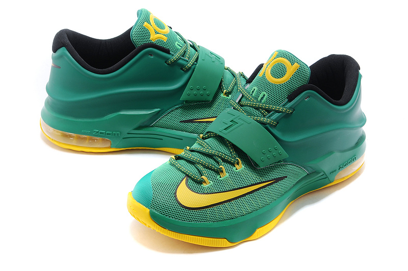 New Nike Kevin Durant 7 Green Yellow Gold Logo Shoes On ...