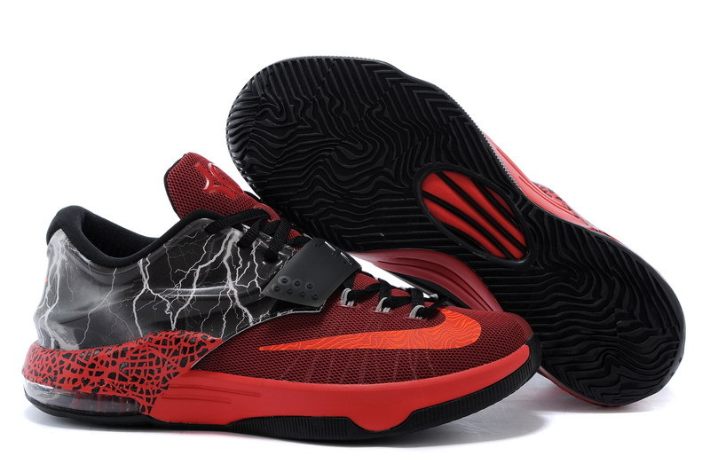 New Nike Kevin Durant 7 Red Black Shoes