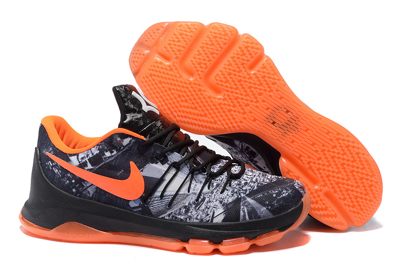 New Nike Kevin Durant 8 BHM Black Orange Shoes