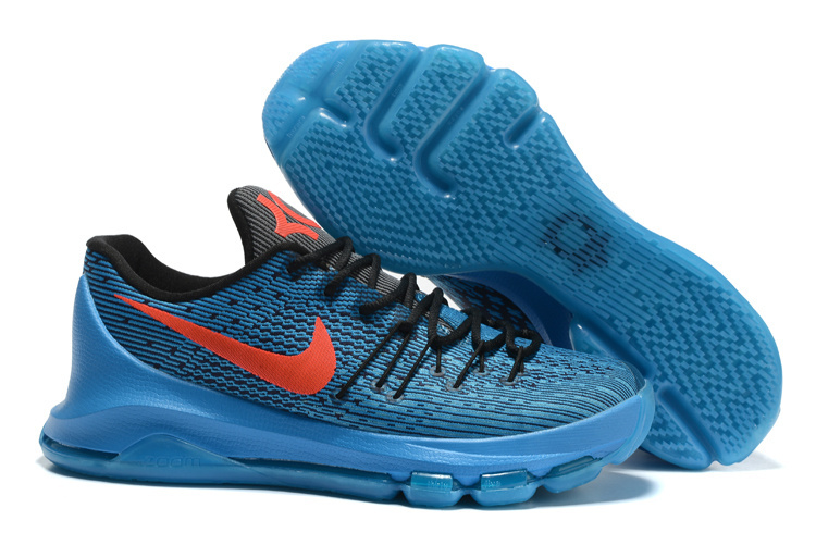 New Nike Kevin Durant 8 Blue Black Orange Shoes