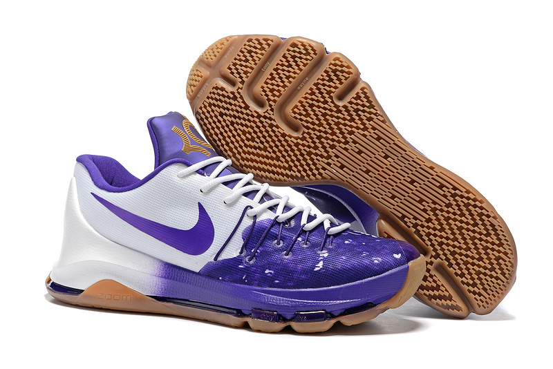 New Nike Kevin Durant 8 Blue White Coffe Sole Shoes