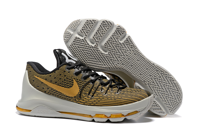 New Nike Kevin Durant 8 Yellow Black Grey Shoes