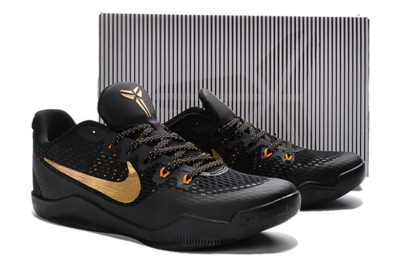New Nike Kobe 11 EM Black Gold Shoes