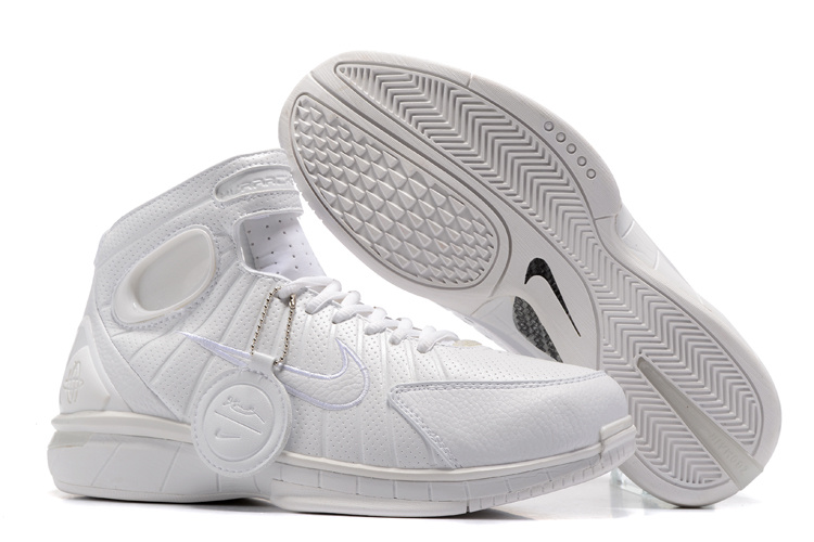 New Nike Kobe 2K4 All White Shoes