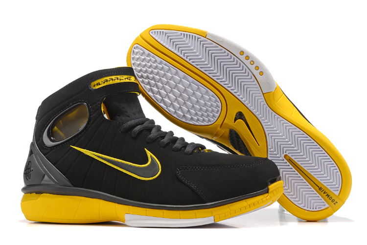 New Nike Kobe 2K4 Black Yellow Shoes