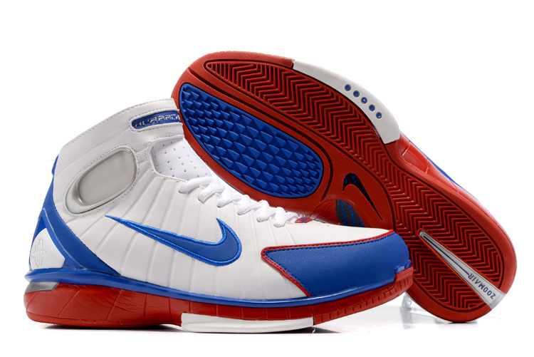 New Nike Kobe 2K4 White Blue Red Shoes