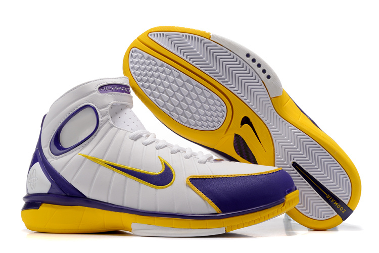 New Nike Kobe 2K4 White Purple Yellow Shoes