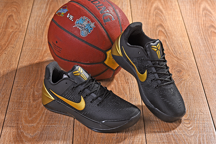 New Nike Kobe AD Black Gloden Shoes