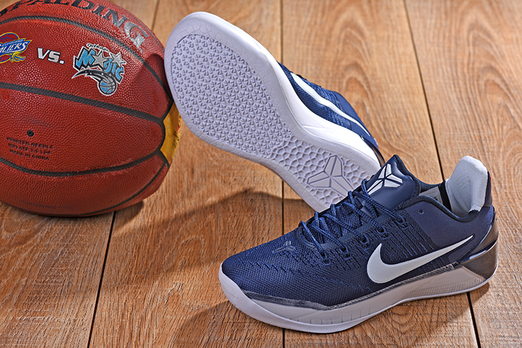 New Nike Kobe AD Dark Blue White Shoes