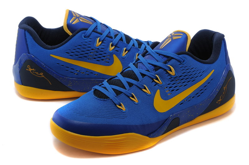 kobe bryant shoes blue and yellow