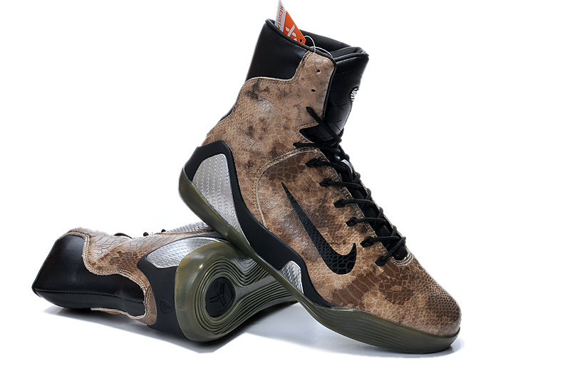 New Nike Kobe Bryant 9 High Snake Skin Shoes