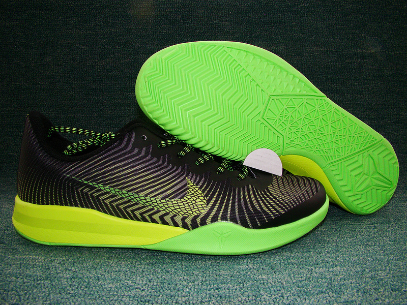 New Nike Kobe Bryant Mentality II Black Green Volt Shoes
