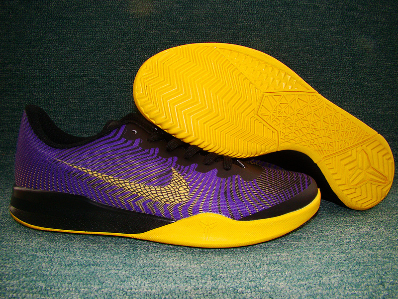 New Nike Kobe Bryant Mentality II Purple Yellow Black Shoes