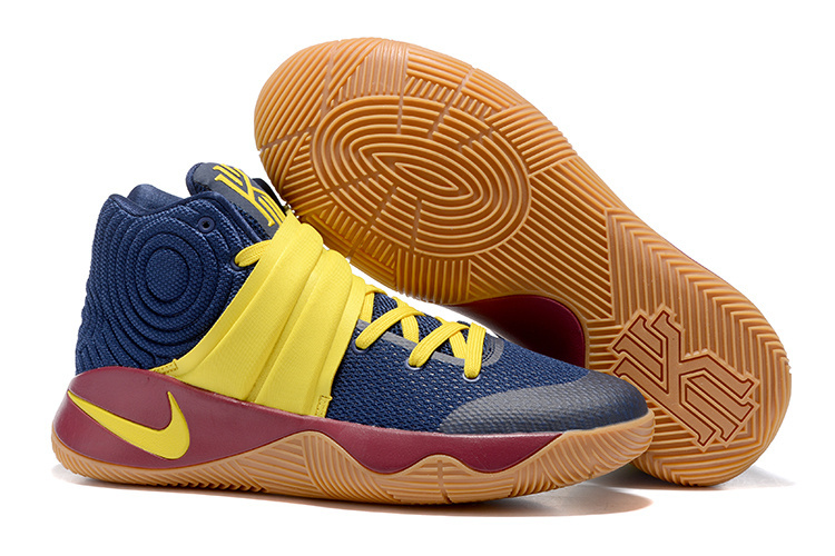 New Nike Kyrie 2 Deep Blue Yellow Shoes