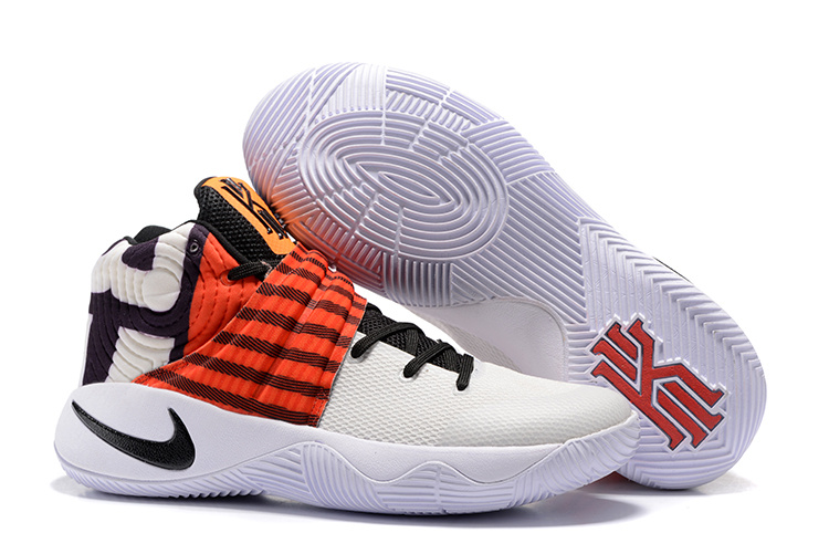 New Nike Kyrie 2 Perfect White Black Orange Yellow Shoes