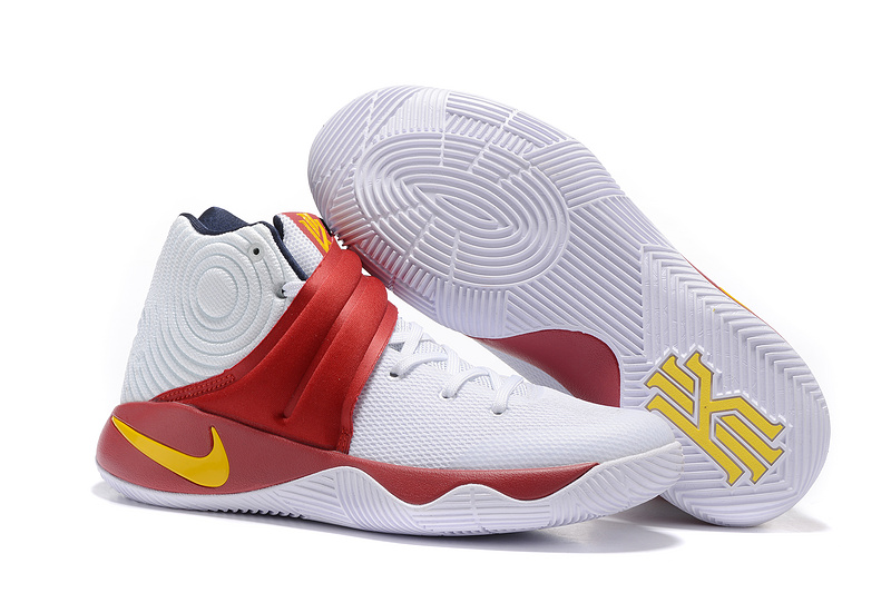 New Nike Kyrie 2 White Red Yellow Shoes
