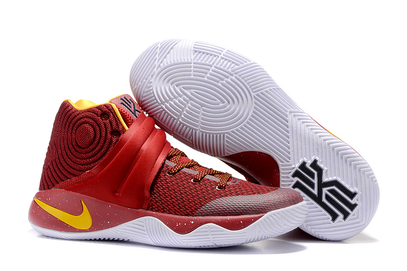 detailed look dd30f 6f1c0 ... spain new nike kyrie 2 wine red yellow shoes ce097 59c8b