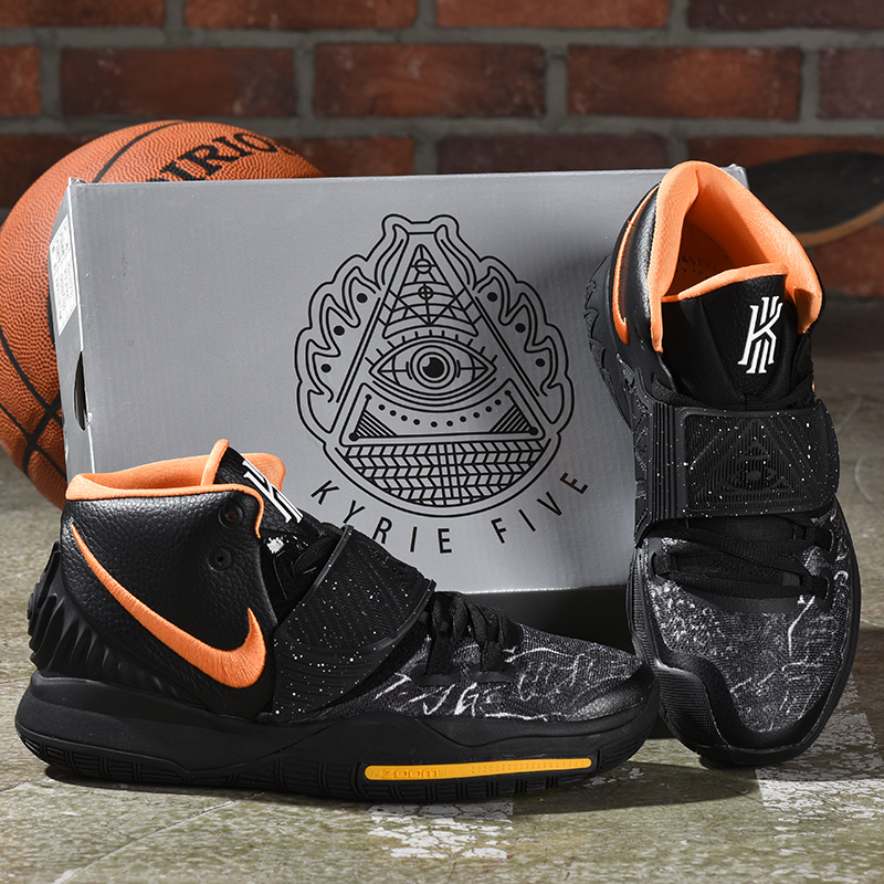 2019 Nike Kyrie 6 Black Orange Yellow