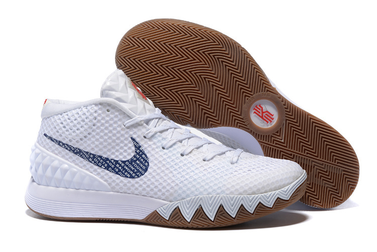 New Nike Kyrie 1 White Coffe Shoes
