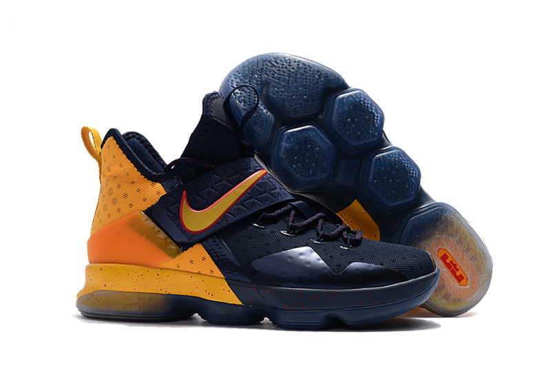 New Nike LeBron 14 Blue Yellow Shoes
