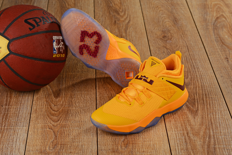 New Nike Lebron Ambassador 10 CAVS Yellow Shoes