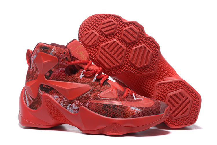 New Nike Lebron James 13 Colorful Red 25K Customize Shoes