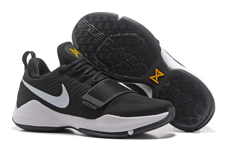 New Nike PG 1 Black White Yellow