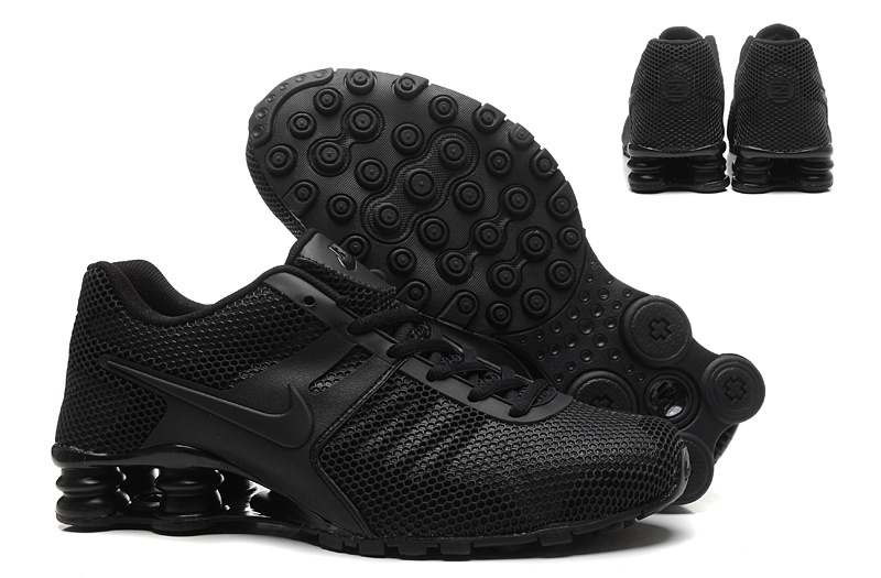 New Nike Shox Current All Dark Black Shoes