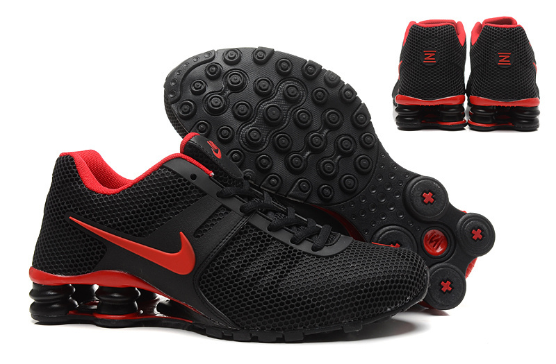 New Nike Shox Current Black Red Shoes