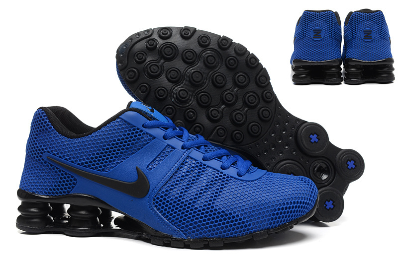 New Nike Shox Current Blue Black Shoes