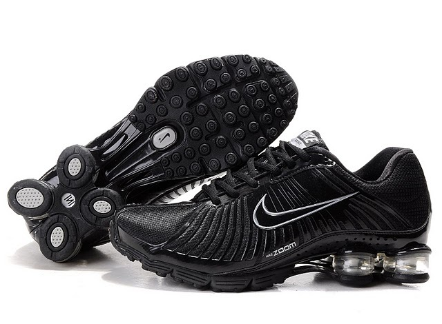 New Nike Shox R4 All Black Shoes For Women