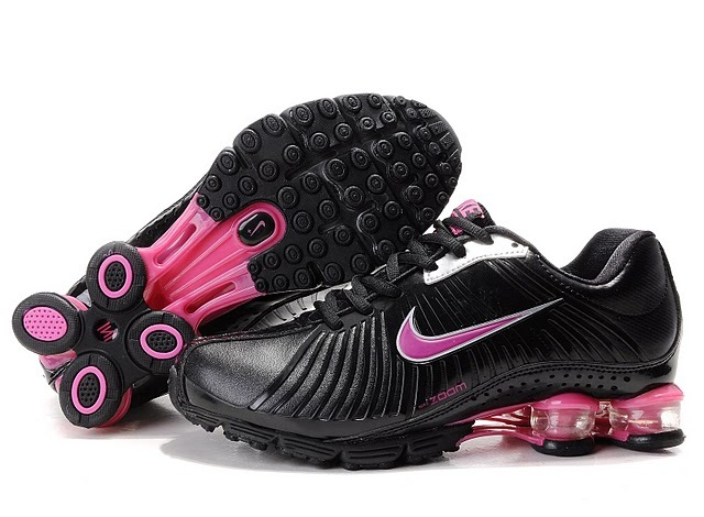 New Nike Shox R4 Black Pink Shoes For Women