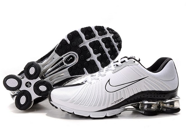 New Nike Shox R4 White Black Shoes For Women