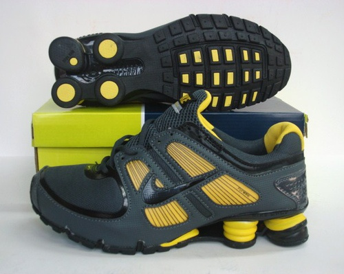 New Nike Shox R5 Black Yellow Shoes